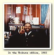 In the Tribune Office, 1983